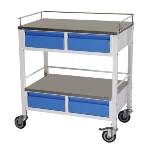 Hospital Medicine Trolley, Crash Cart Trolley for hospitals and care homes