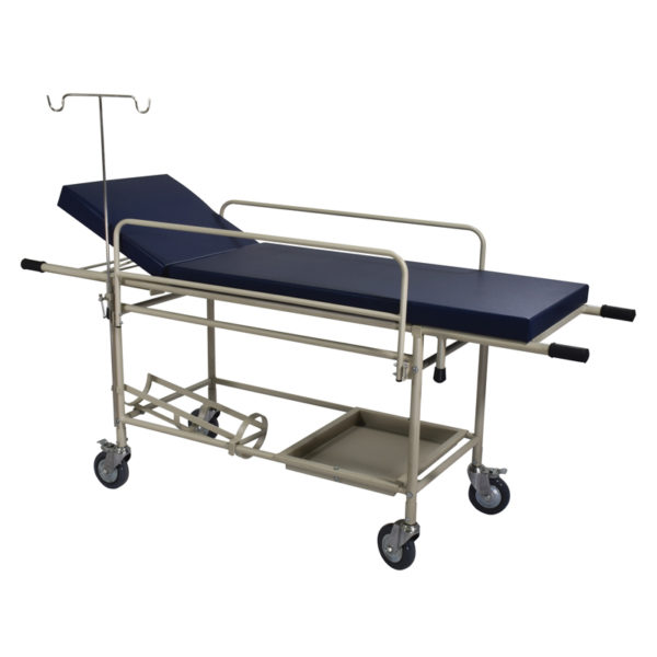 Stretcher Patient Trolley with Fixed Mattress