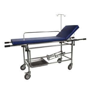 Stretcher with Fixed Mattress use in Hospital for Patient Transfer