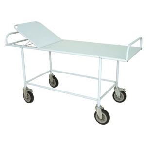 Emergency Trolley, Ward Trolley, Hospital Stretcher on Trolley Fixed with backrest