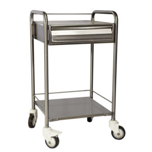 ECG Trolley, Stainless Steel ECG Machine Trolley